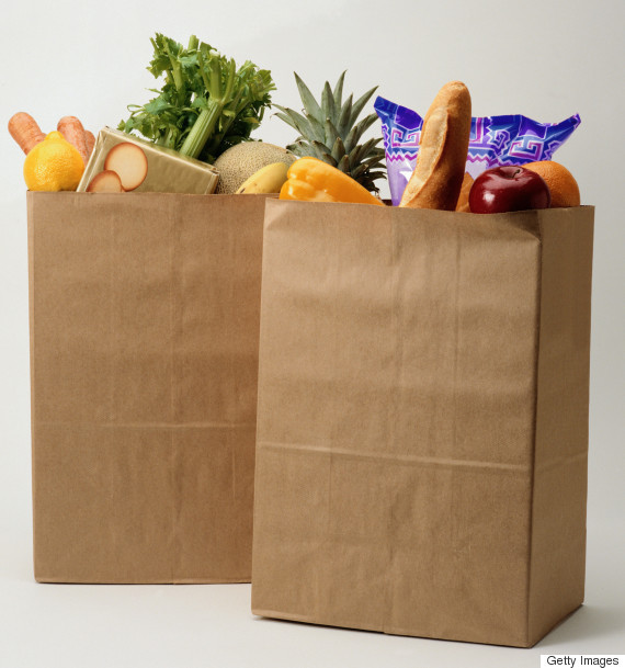 squarebottomed paper bag
