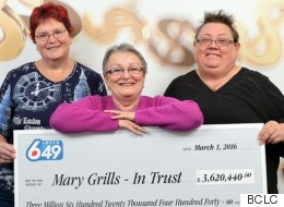 B.C. Trio Win Millions After Using Same Lotto Numbers For 22 Years