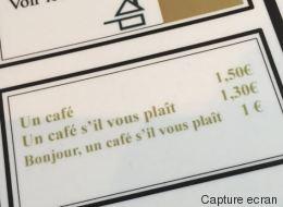 Ce menu d'un restaurant français étonne les internautes étrangers