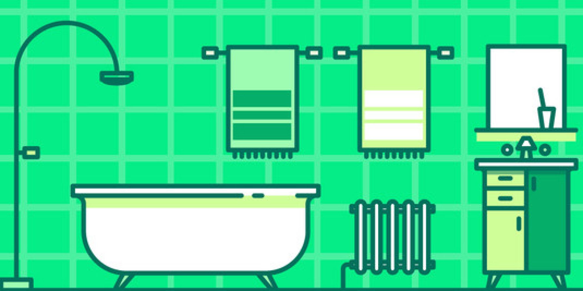 Bathroom Makeovers For Renters renter rescue: the $100 bathroom makeover | huffpost