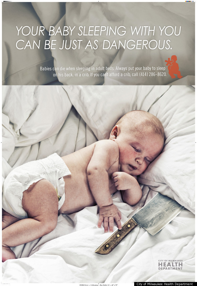Milwaukee Co Sleeping Ad Of Baby With Knife Aims To Warn Parents Of Dangers Causes Controversy Photo Huffpost Life