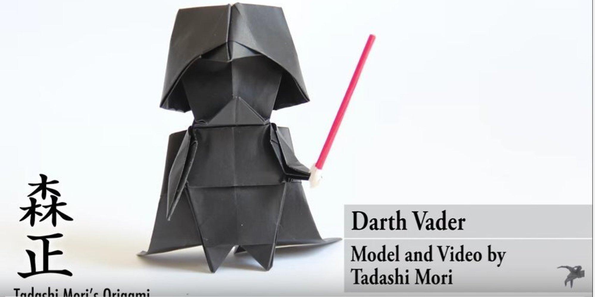 すべての折り紙 亀の作り方 折り紙 : 折り紙で「ダース・ベイダー ...