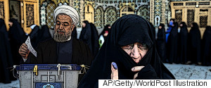 PRESIDENT HASSAN ROUHANI CASTS HIS VOTE