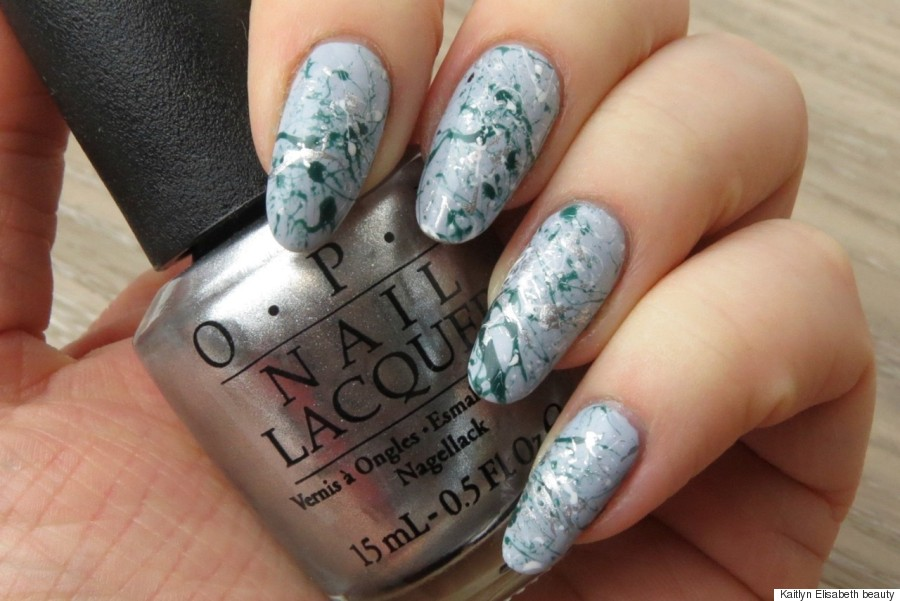 Spring nail art create a paint splatter design using a bobby pin nicole miller spring prinsesfo Choice Image