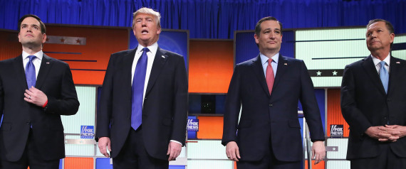 REPUBLICAN CANDIDATES TRUMP RUBIO CRUZ