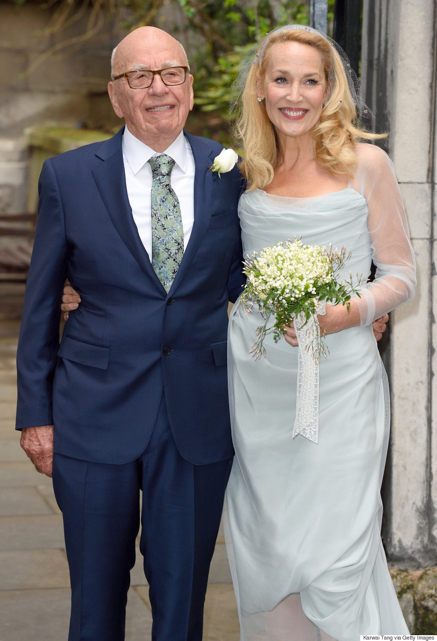 jerry hall wedding dress