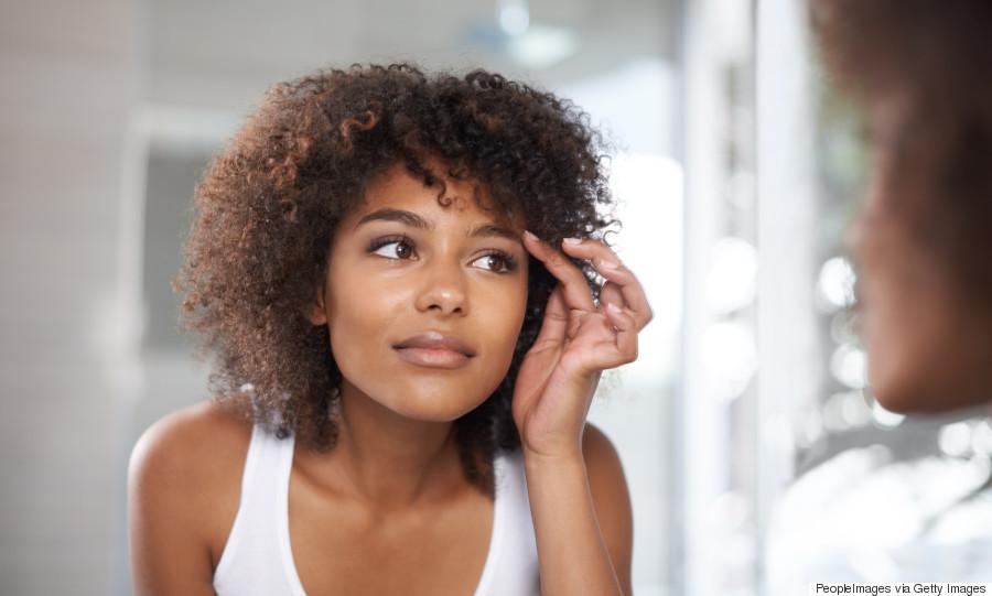 eyebrows black woman