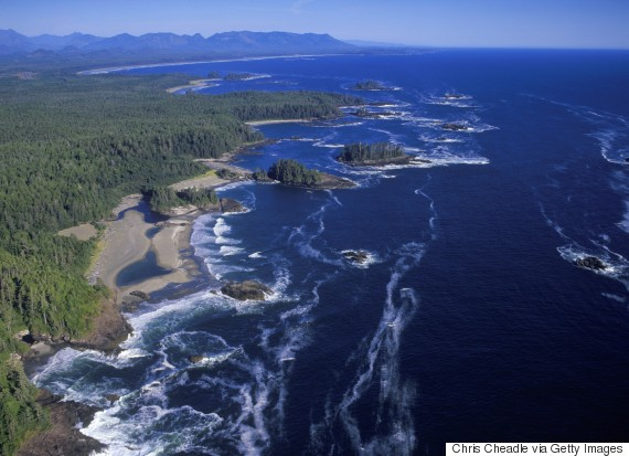 vancouver island west coast aerial