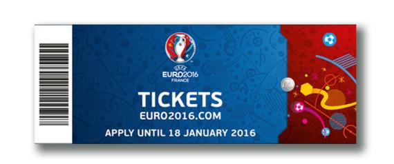 BILLET TICKET EURO 2016