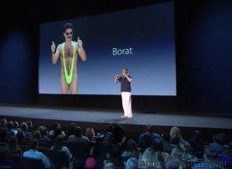 Quand Borat parodie les présentations Apple