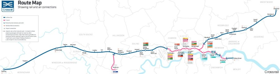 elizabeth line route map