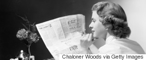 READING NEWSPAPER 1950S