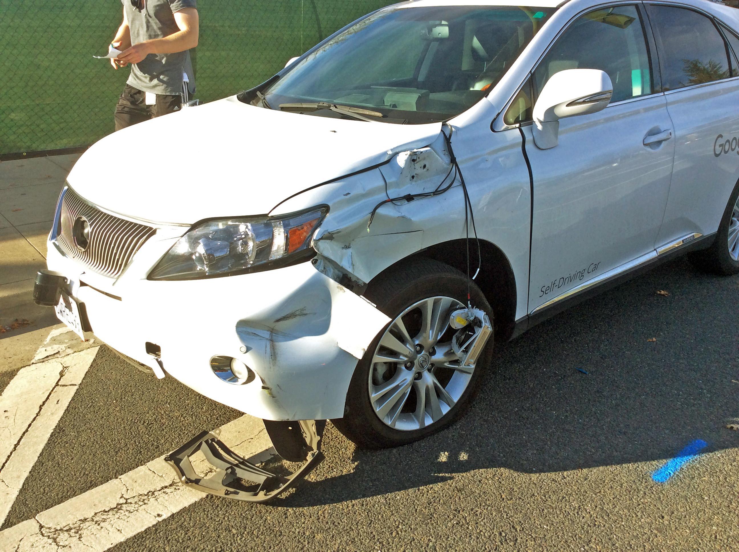 google car bus accident