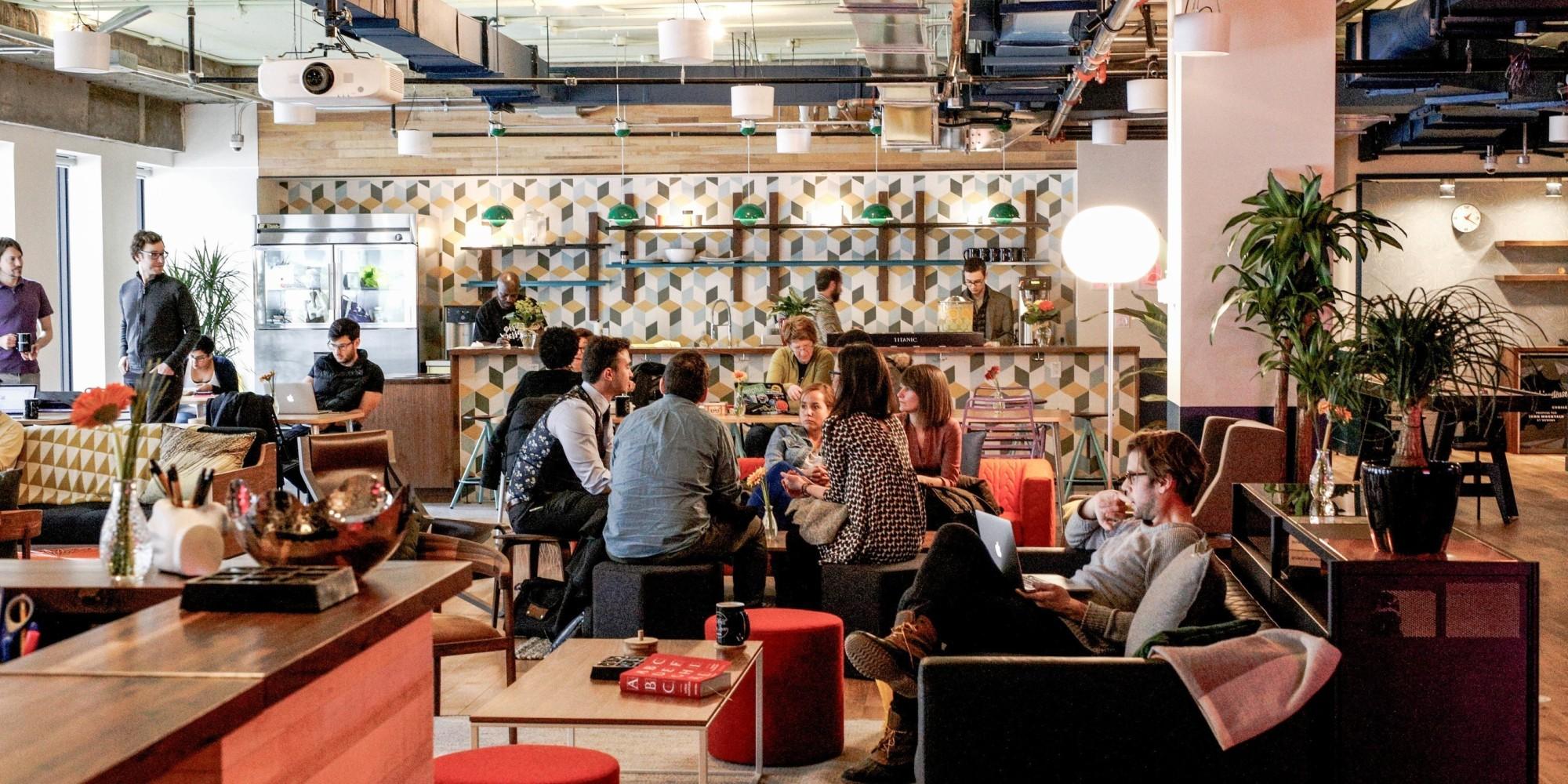 Wework un nouvel espace de travail collaboratif for Bureau plus montreal