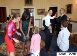 POTUS And FLOTUS Fall In Love With Trudeau's Children, Too