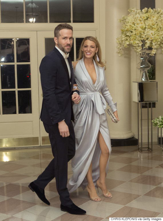 Ryan Reynolds And Blake Lively Attend White House State Dinner