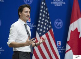 'Fear Is Easy,' Trudeau Tells U.S. Audience
