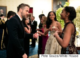The Obama Sisters Are All Teenage Girls When Meeting Ryan Reynolds