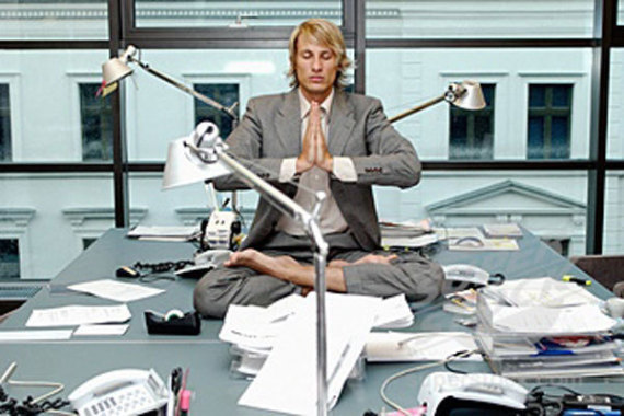 Businessman Yoga