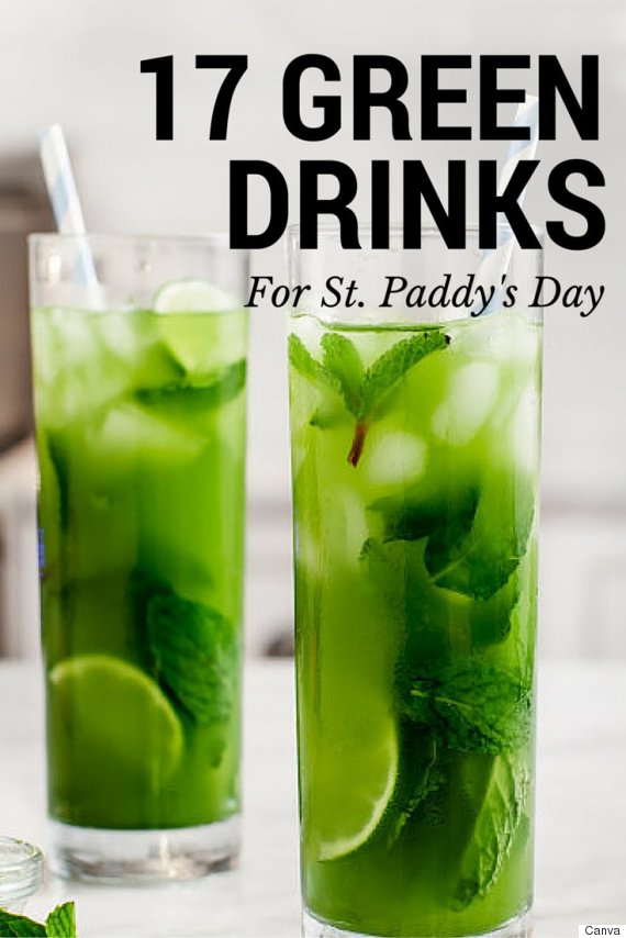 Green drink recipes 17 delicious recipes for st patrick for Green alcoholic drinks recipes