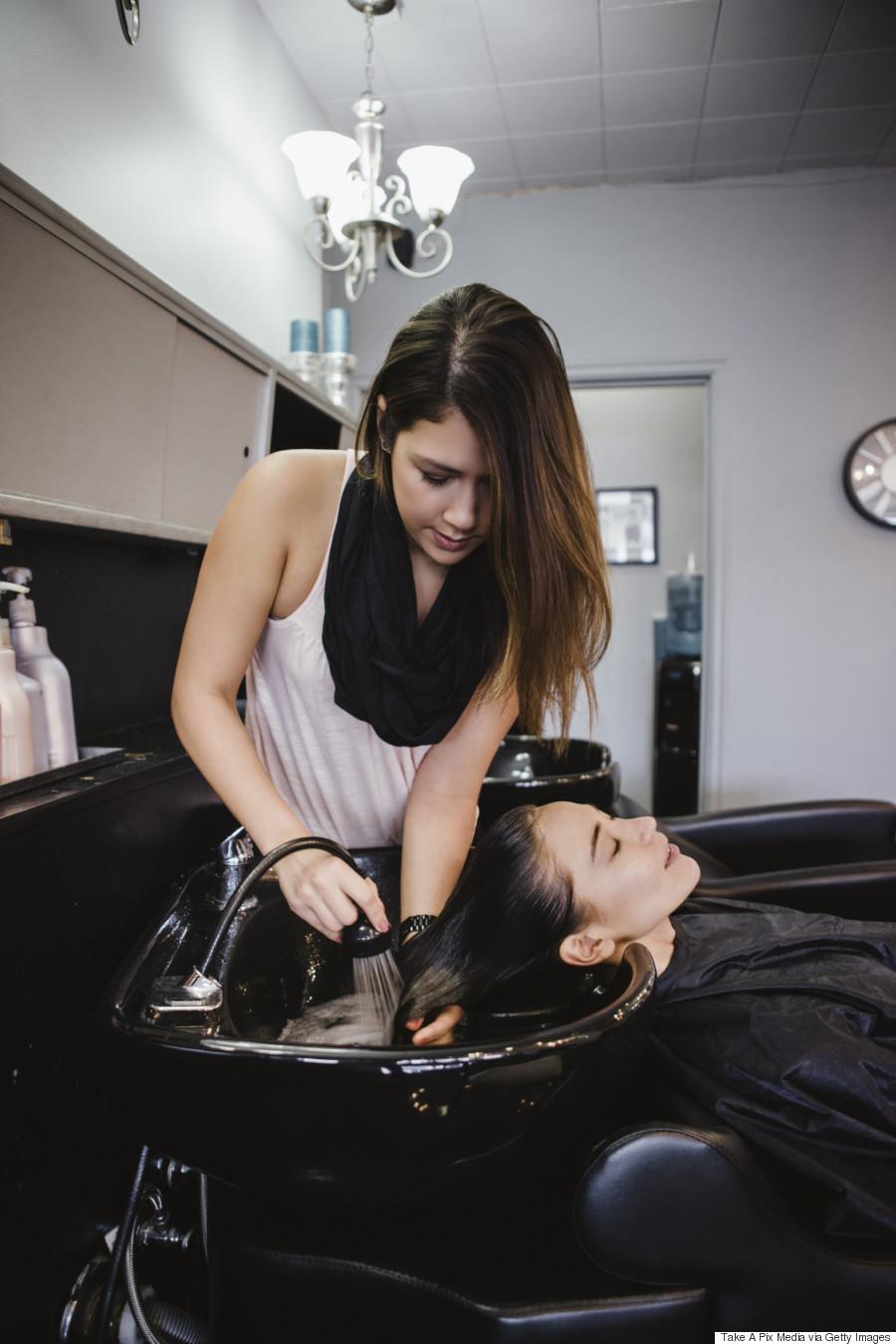 Shampooing pampered girls pinterest for Wash hair salon