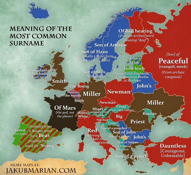 map surnames
