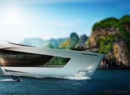 Le yacht du futur, son héliport et sa collection de voitures