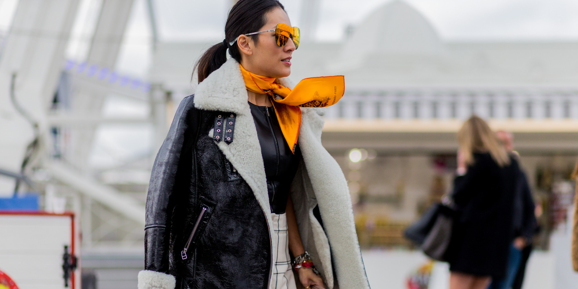 How To Wear A Scarf Like A Street Style Star Huffpost