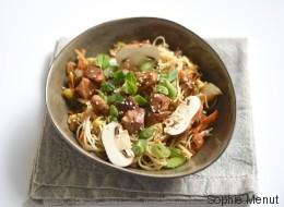 Vite fait, bien fait: nouilles sautées au porc et aux légumes