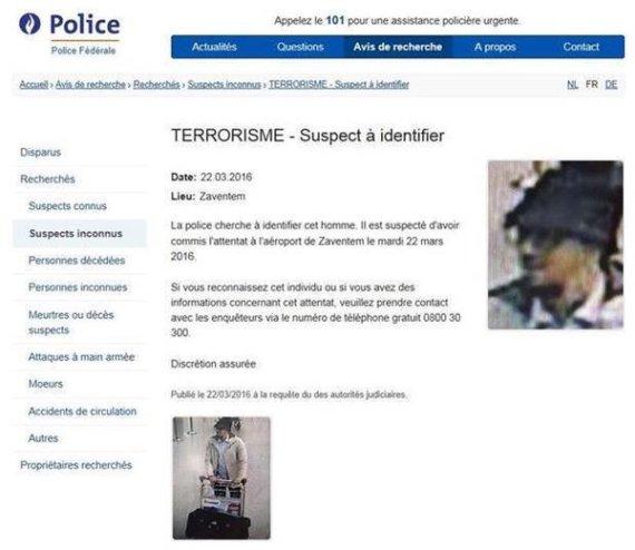 avis de recherche terroriste