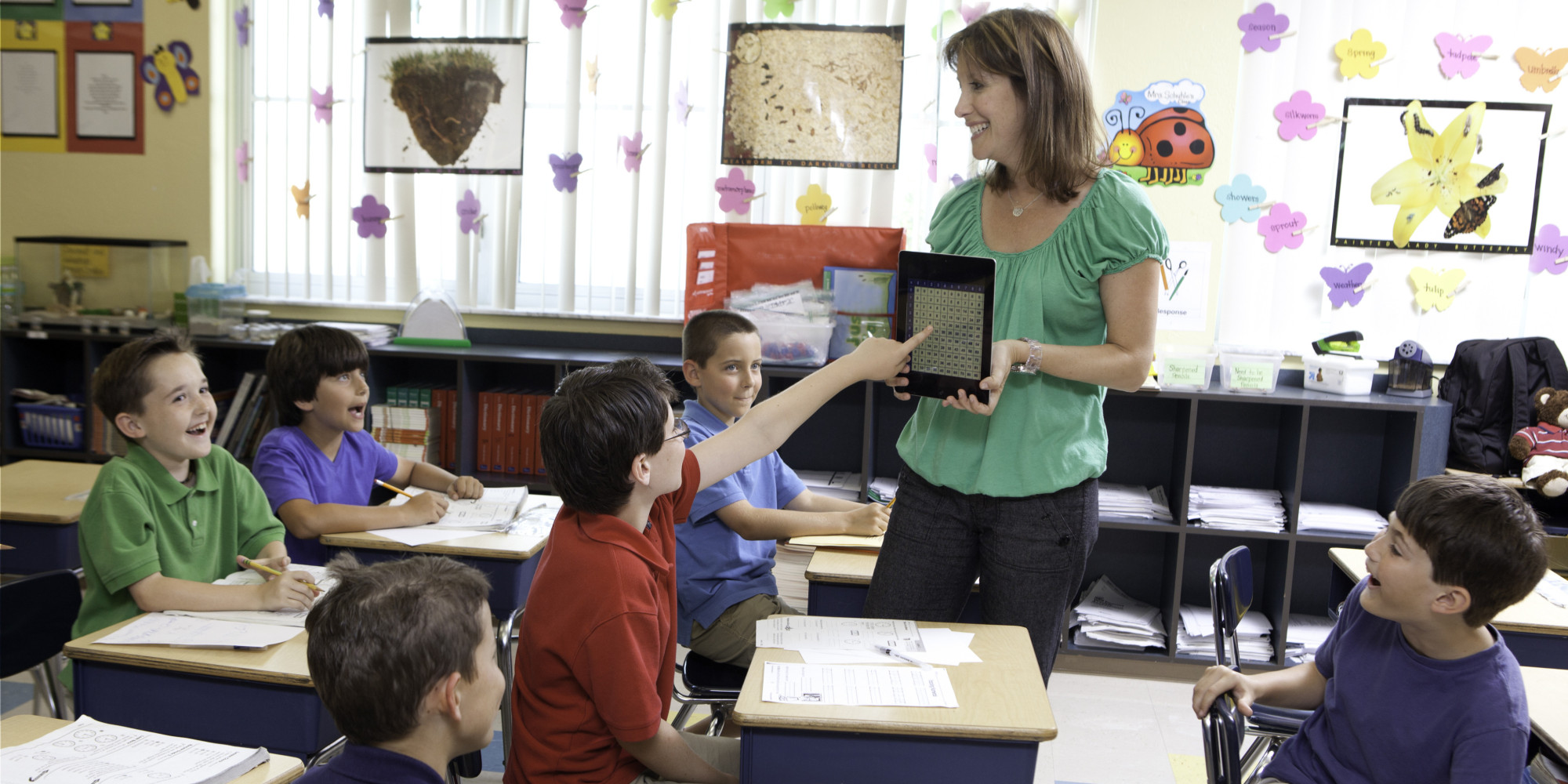 Elementary Classrooms Technology Use ~ Ways to use technology engage students better huffpost