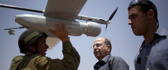 AN UNMANNED ISRAELI DRONE