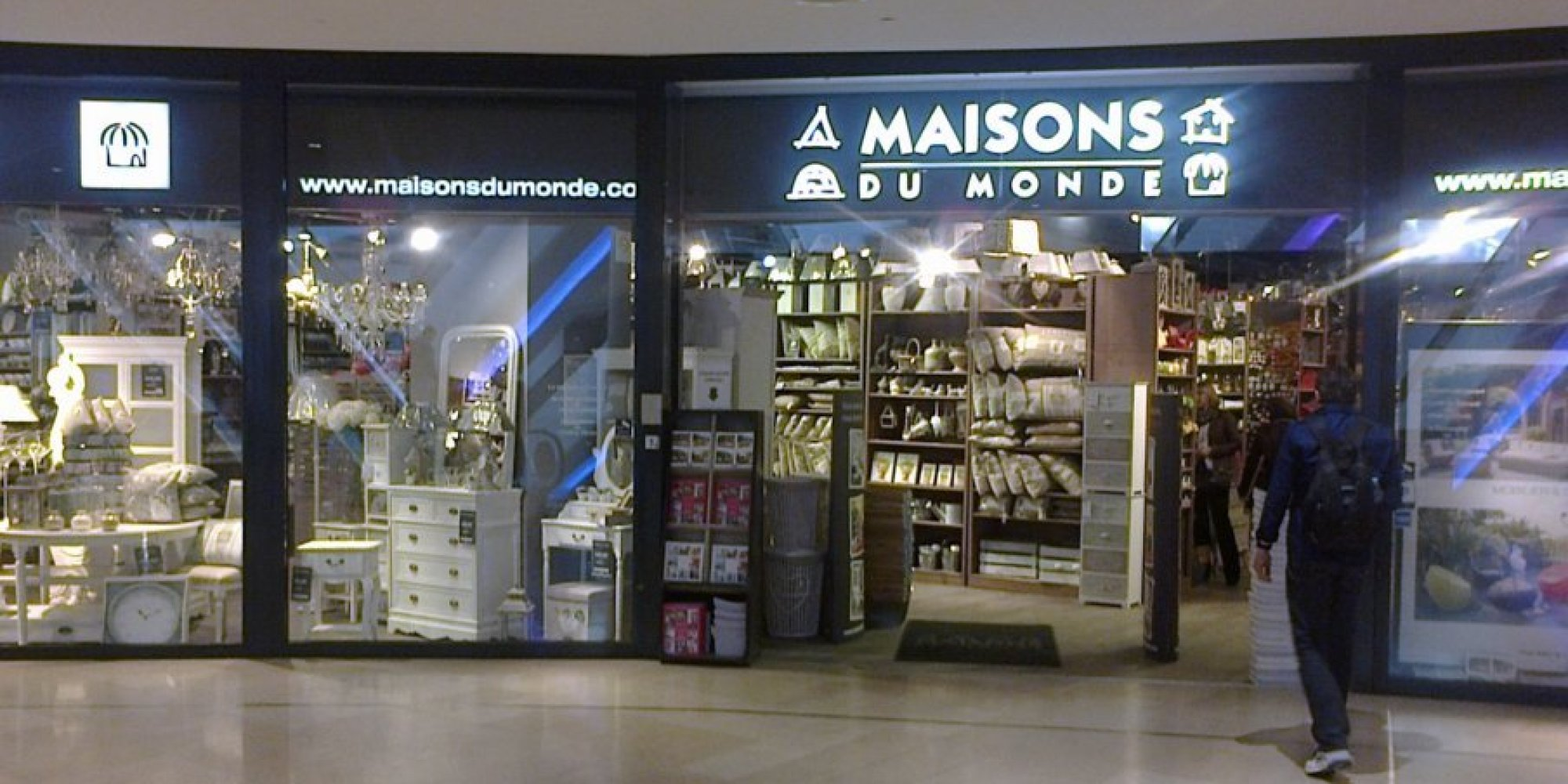 l 39 enseigne maisons du monde s 39 installe au morocco mall. Black Bedroom Furniture Sets. Home Design Ideas
