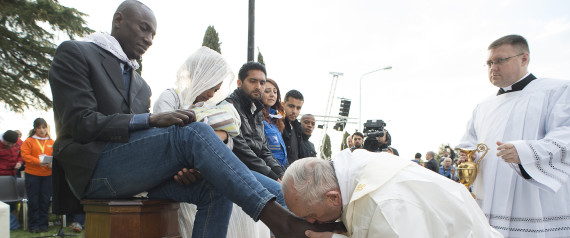 POPE REFUGEES 24 MARCH 2016