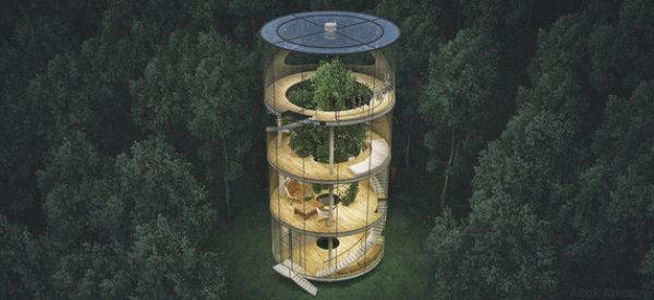Questa casa di vetro nella foresta è il rifugio che tutti stavamo aspettando