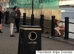 Geordies Outraged After Woman Photographed Relieving Herself In The Tyne