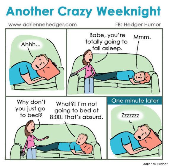 Questa vignetta ritrae perfettamente la routine delle - Dormire sul divano ...