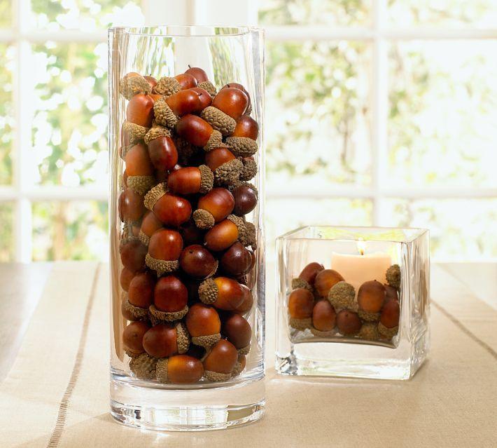 Thanksgiving crafts acorn vase filler huffpost