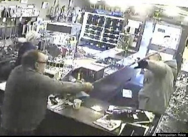 Knife-Wielding Man Chased Off By Store Owner Brandishing Broom Handle