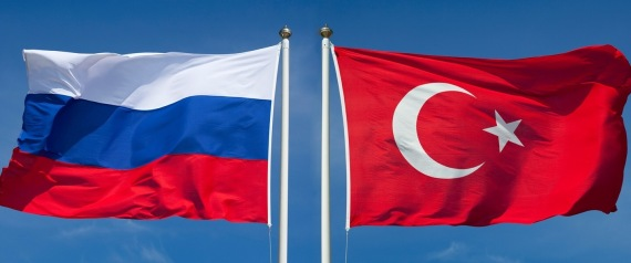 RUSSIA TURKEY FLAGS