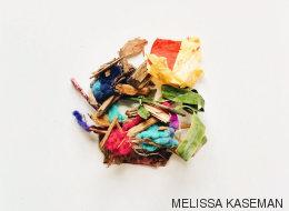 El interior de los bolsillos de un niño en una serie de fotografías adorables
