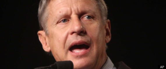 Gary Johnson 2012 Libertarian
