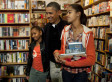 Obama Shops For Books With Daughters Sasha And Malia At Kramerbooks & Afterwords In Washington, DC