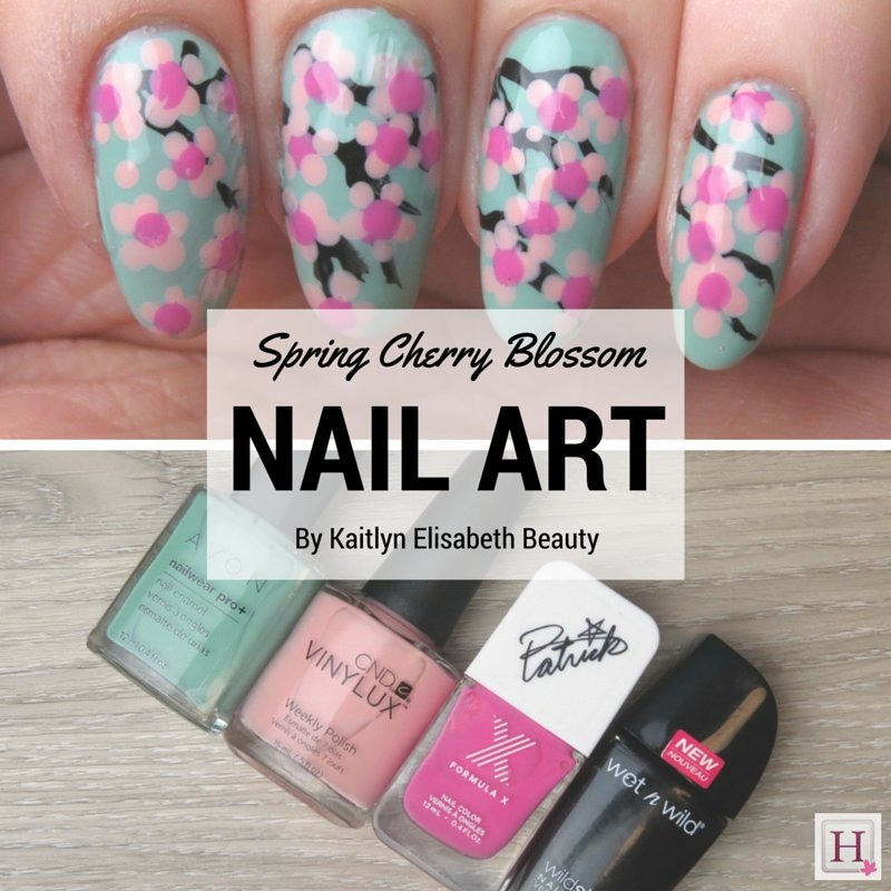 Spring nail art try this easy cherry blossom design cherry blossoms to complete this nail art prinsesfo Gallery