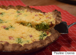 Ham And Broccoli Quiche Gets An Allergy-Friendly Makeover