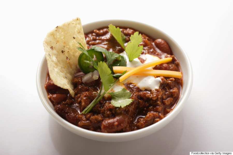 chilli with sour cream