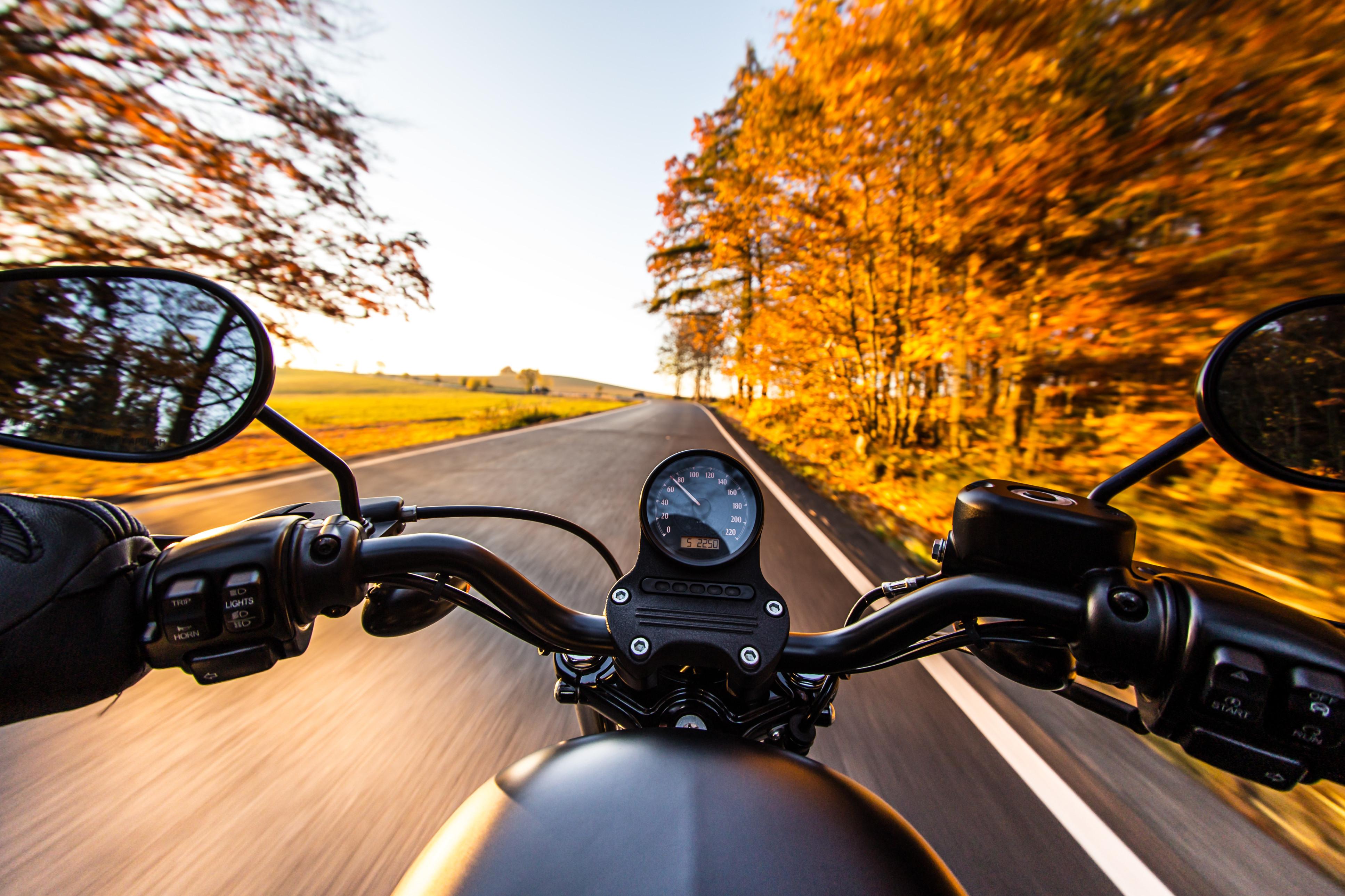 autumn motorcycle
