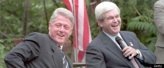 Bill Clinton Newt Gingrich