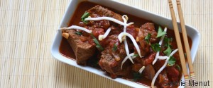 SAUTE DE BOEUF AU CURRY ROUGE