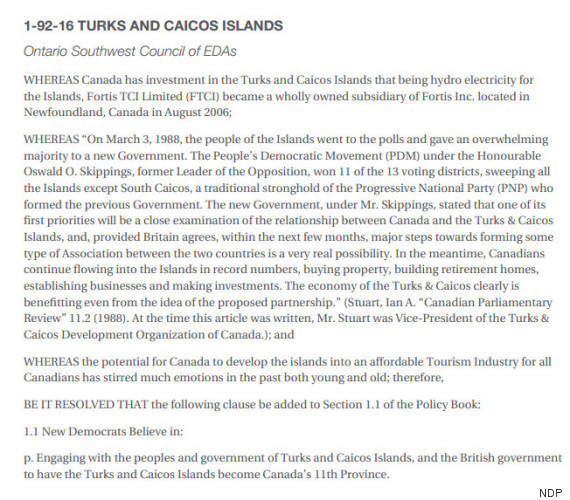 turks and caicos resolution